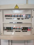 Electric panel with installed modules